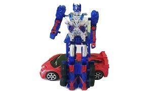 LBQ pretend play with Transformers car toy | Đồ chơi ô tô biến hình robot #2