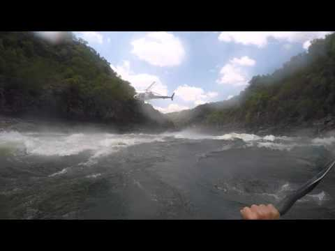 "Running ""Star Trek"" on the Zambezi's Rapid Number 8 with Helicopter filming"