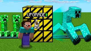 NOOB UPGRADE HIS CREEPER MONSTER PET IN DIAMOND CREEPER MUTANT! Minecraft Noob vs Pro Animation
