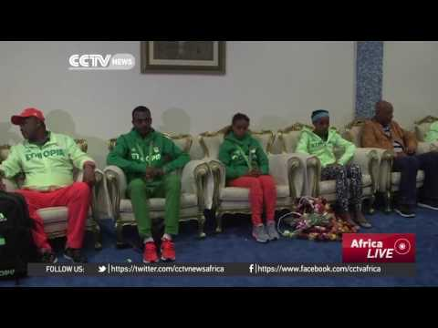 CCTV Africa report Ethiopian Olympic Team Returns To Addis Ababa,  Feyisa Lelisa Missing