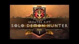 Diablo 3 | GR122 Solo Demon Hunter | Rank 1 WORLD ( M6 Multishot )