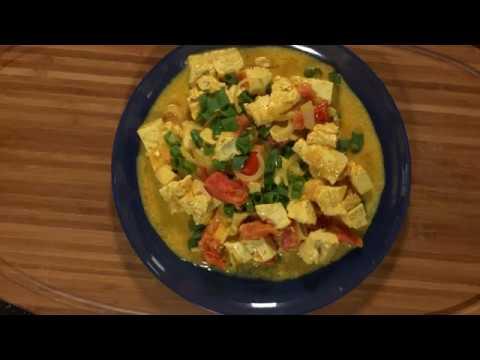 Mijoté de tofu au curry et lait de coco