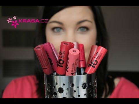 16h rtěnky Dermacol (recenze + lipswatche)
