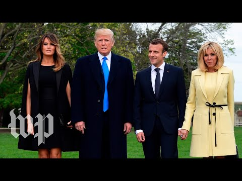 Macron arrives at the White House to meet Trump