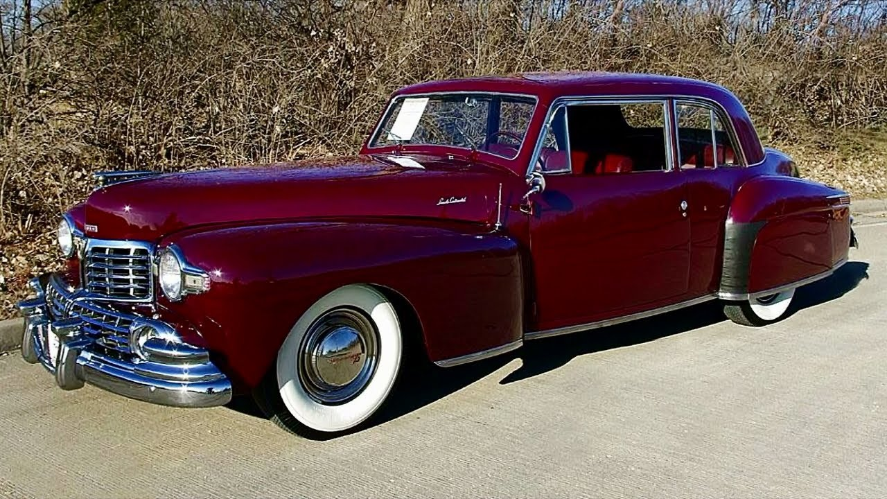 1947 Lincoln Continental Coupe V12 Flathead Youtube