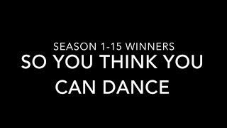 ALL WINNERS of So You Think You Can Dance (#SYTYCD) Seasons 1-15