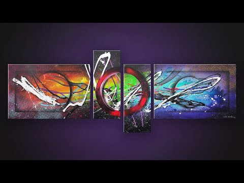 Abstract Painting Demonstration   Nebula and Space   ASMR Painting   Hydre