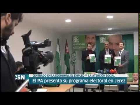 Antonio Jesús Ruiz (PA) presenta el programa de gobierno para Andalucía