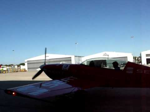 Aerobatic Flight - Me and CMDT Luis Garao - Extra 300L Taxing to the runway