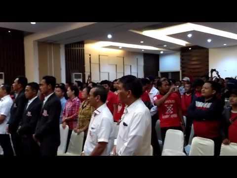 Official Persis Solo dan Pasoepati Nyanyikan Satu Jiwa  di Launching Kerjasama Dengan Corsa