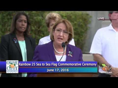 Orange County Mayor Announces Rainbow 25 Sea To Sea Flag On Display