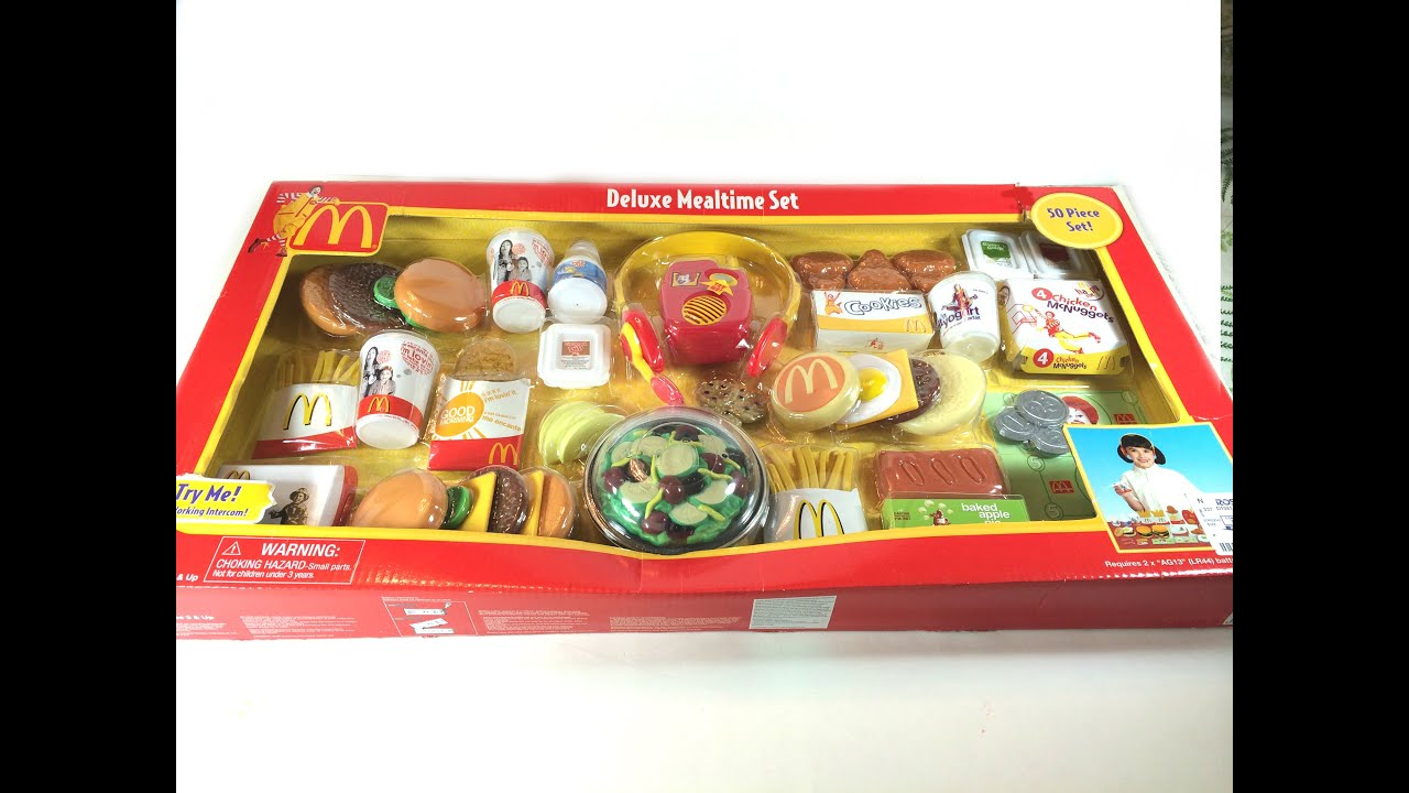 Huge McDonald Deluxe Mealtime 50 Pieces Toy Set - YouTube