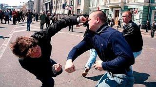 Как бить в уличной драке! Убойная двойка!