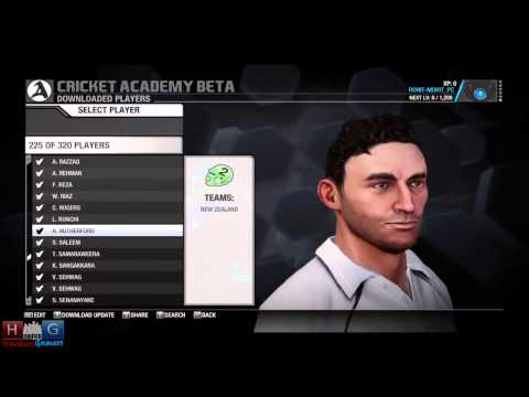 Cricket Academy™ Beta Walkthrough : Look at Many Players , Teams and Match/Tour Editor