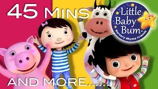 Jumping Around   + More Nursery Rhymes And Kids Songs   45 Mins Compilation from LittleBabyBum!