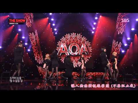 【HD繁體中字】140121 AOA Miniskirt  @ SBS The Show All About K-Pop Comeback Stage [1080P] 1080P