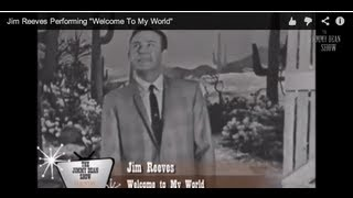 "Jim Reeves Performing ""Welcome To My World"" LIVE on The Jimmy Dean Show 1964"