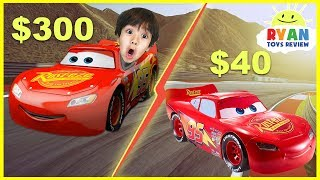 Disney Cars 3 $40 Lightning McQueen vs $300 Lightning McQueen Remote Control Toy Cars