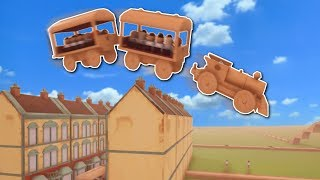 SUPER FAST TRAIN JUMPS HOUSES?! - Tracks: The Train Set Game Gameplay - Building Train Tracks!