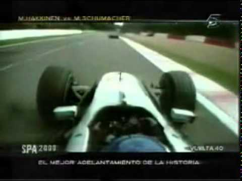 Häkkinen vs Schumacher Belgium 2000
