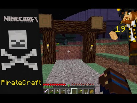 Minecraft Piratecraft Episode 19: Mine Entrance & Economy Stability Needs Fixing???