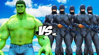 BIG HULK vs RoboCop Army - EPIC BATTLE