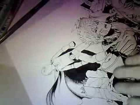 Yusuke Murata Drawing Yusuke Murata Working on Color
