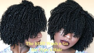 BEST and Most DEFINED Wash n Go for THICK/KINKY Type 4 NATURAL HAIR