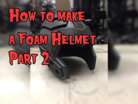 How To Make A Foam Helmet. Tutorial Part 2