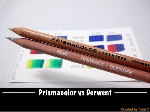 Blenders TEST   Prismacolor vs Derwent   Review