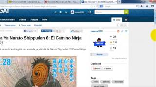 Descarga Naruto Shippuden 6: El camino Ninja Sub Español