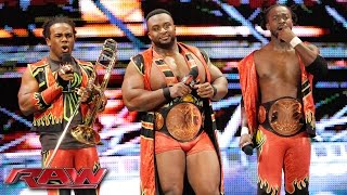 The New Day confronts Randy Orton and Dean Ambrose: Raw, October 12, 2015