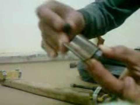 HOW to make a airgun spring compressor.My Home made airgun spring compressor