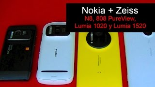 Nokia y Zeiss: N8, 808 PureView, Lumia 1020 y Lumia 1520
