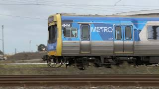 Vline and Metro Trains Melbourne near Laverton - Australian Passenger Railways - PoathTV Trains