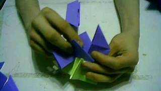 Origami Tutorial - How To Make A Modular Origami Omega Star