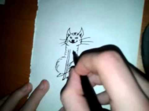 Funny Drawings Pictures How to Draw a Cat-funny Idea