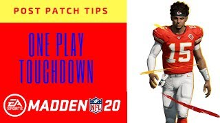 Post Patch One Play Touchdown (Warning) West Coast Offense Madden 20