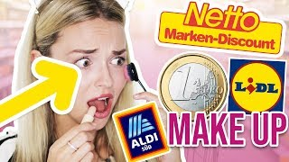 OMG! BILLIGSTE MAKE UP von NETTO & Co 😱 DECKT NULL! DISCOUNTER Make Up schminken | XLAETA