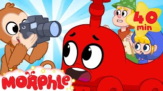 Moprhle The TRAIN! - My Magic Pet Morphle | Cartoons For Kids | Morphle TV | Mila & Morphle