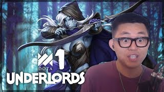 Dota Underlords! Hunters are OP (For Now) | Amaz 1