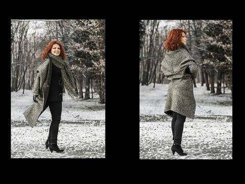 Jak Uszyć Kardigan Sweter Bez Wykroju By Słonecznaradzi.pl / How To Make A Cardigan Sweater