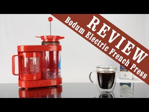 Review: Bodum Bistro Electric French Press Coffee & Tea Maker or Dripper - YouTube