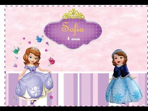 Preparativos Princesa Sofia  4 anos #parte 1