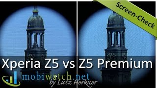 Sony Xperia Z5 Premium with 4K: Do You See the Difference? Screen-Check Video