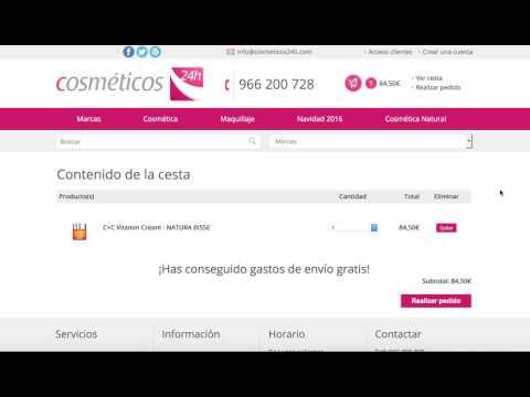 Codigo de Cupón para Cosmeticos24h.com