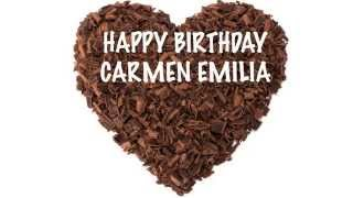 Carmen Emilia   Chocolate - Happy Birthday