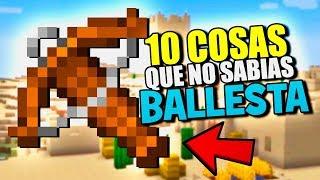 👉 10 COSAS QUE NO SABIAS DE LA BALLESTA 👈 MINECRAFT PE 1.8 CURIOSIDADES