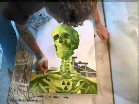 """Homeland Terrorism"" San Onofre Nuclear Plant Leak x Dark Vomit Speed Time Lapse Painting"