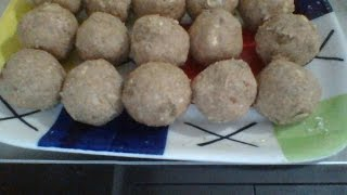 Sweet Balls Of Water Chestnut ( Singhare Ke Aate Ka Laddoo - सिंघारे के आटे का लड्डू ) in Hindi
